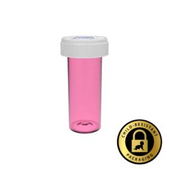 Pink Reversible Cap Vials 13 Dram