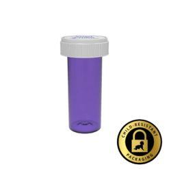 Purple Reversible Cap Vials 16 Dram