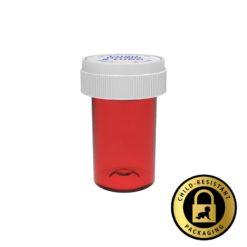 Red Reversible Cap Vials 20 Dram