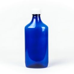 Blue Graduated Oval RX Bottles with Child-Resistant Caps 16 oz