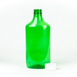 16 oz Green Graduated Oval RX Bottles with Child-Resistant Caps