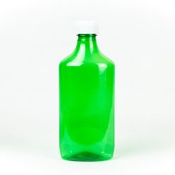 Green Graduated Oval RX Bottles with Child-Resistant Caps 16 oz