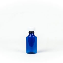 Blue Graduated Oval RX Bottles with Child-Resistant Caps 2 oz