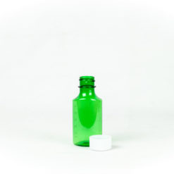 2 oz Green Graduated Oval RX Bottles with Child-Resistant Caps