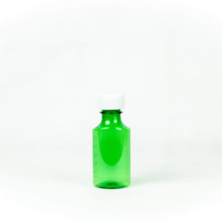Green Graduated Oval RX Bottles with Child-Resistant Caps 2 oz