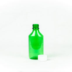 4 oz Green Graduated Oval RX Bottles with Child-Resistant Caps