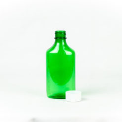 3 oz Green Graduated Oval RX Bottles with Child-Resistant Caps