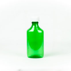 Green Graduated Oval RX Bottles with Child-Resistant Caps 6 oz