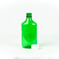 8 oz Green Graduated Oval RX Bottles with Child-Resistant Caps