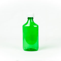 Green Graduated Oval RX Bottles with Child-Resistant Caps 8 oz
