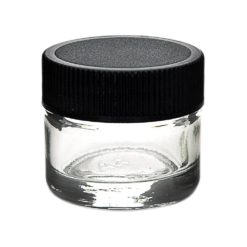 Glass Concentrate Container Black Cap 5ML