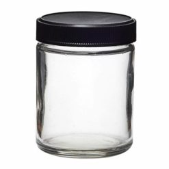 Glass Screw Cap Jars (Black Cap) 04oz