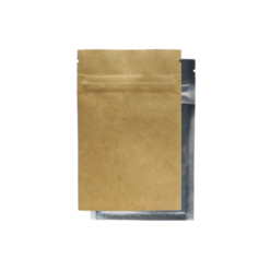 Kraft/Clear Mylar Smell Proof Bags 1/4 Ounce
