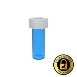 Blue Reversible Vials with Dual Purpose Caps 8 Dram