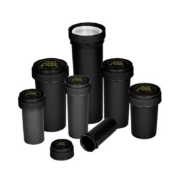 Opaque Black Reversible Cap Vials