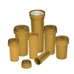 Opaque Gold Reversible Cap Vials
