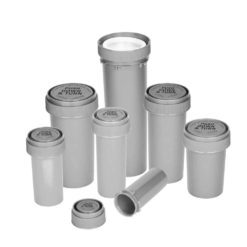 Opaque Silver Reversible Cap Vials
