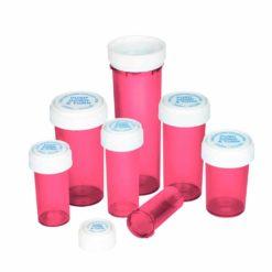 Pink Reversible Cap Vials
