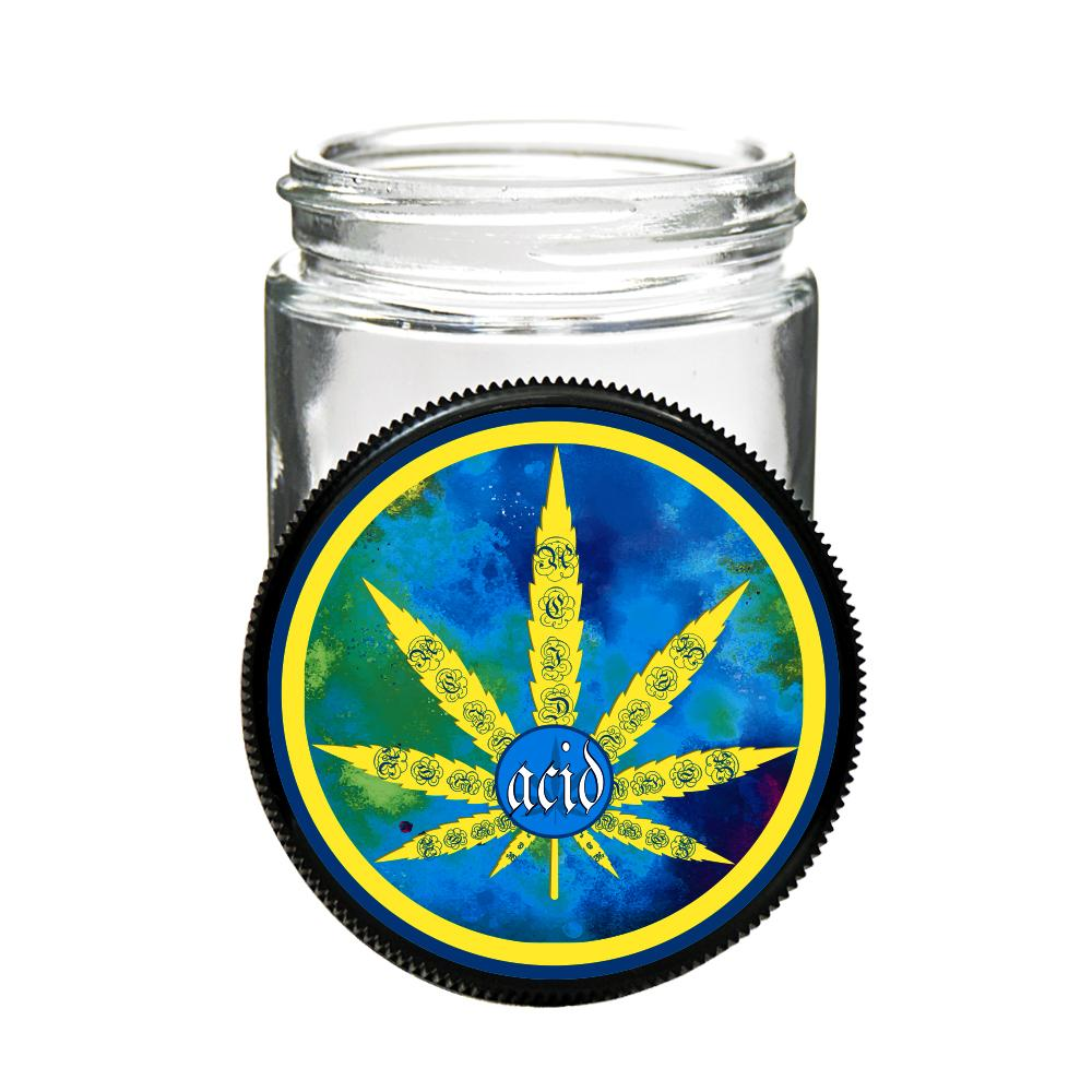 custom printed caps glass jars