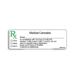 California Compliant - Medical Marijuana Labels