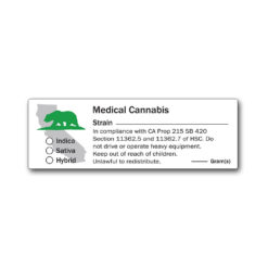 California State Design -Medical Marijuana Labels