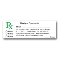 Michigan Compliant - Medical Marijuana Labels