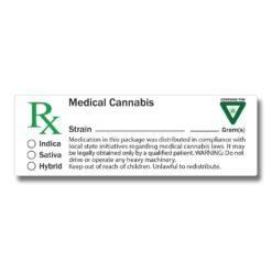 Medical label w/ THC Logo Michigan