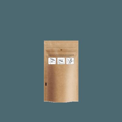 Dymapak Child Resistant Kraft Bags 1/4 ounce quarter