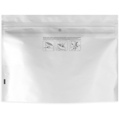 White Child Resistant Dymapak Bags - 8″ x 6″
