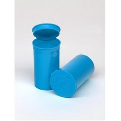 19 Dram Opaque Aqua Pop Top Containers