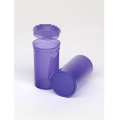 19 Dram Translucent Violet Pop Top Containers