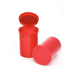 Opaque Strawberry Pop Top Containers