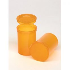 30 Dram Translucent Amber Pop Top Containers