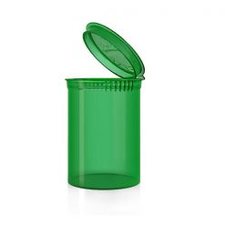30 Dram Translucent Green Pop Top Containers