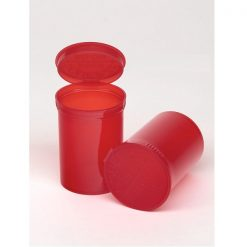 30 Dram Translucent Red Pop Top Containers