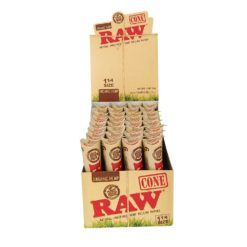 RAW Organic Hemp Pre Rolled Cones 98mm 2 334