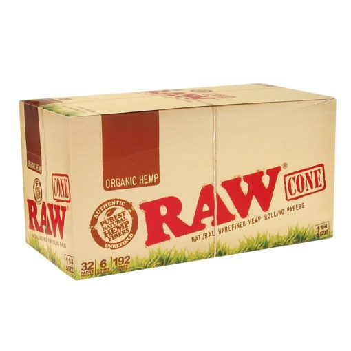 98 mm Organic Hemp RAW Pre-Rolled Cones 1 1/4""