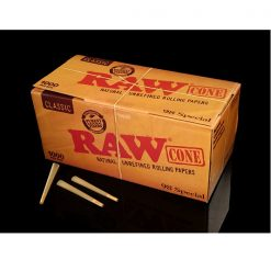 RAW 98mm Unbleached Pre Rolled Paper Cones