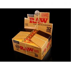 RAW 1 1/4 Size Pre Rolled Cones 12 Pack Display Case