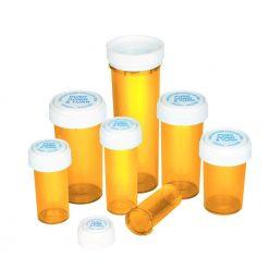 Amber Reversible Cap Vials