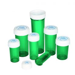 Green Reversible Caps Vials