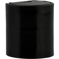 20mm 20-410 Black Smooth Disc Top Cap, Unlined