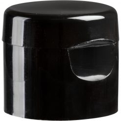 24mm 24-410 Black Smooth Snap Top Cap, Unlined