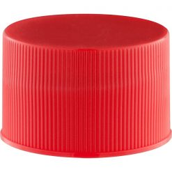 28mm 28-410 Red Ribbed (Matte Top) Plastic Cap