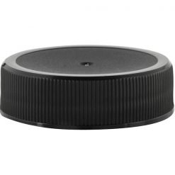 38mm 38-400 Black Ribbed Matte Top Plastic Cap