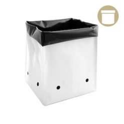 grow bags in gallon black and white