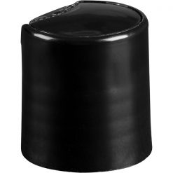 20mm 20-410 Black Smooth Disc Top Cap, Unlined, .270x.110 Orifice, Valve Seal