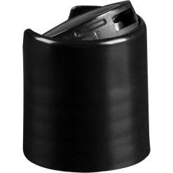20mm 20-410 Black Smooth Disc Top Cap, Unlined, .270x.110 Orifice, Valve Seal