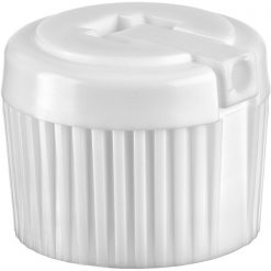 20mm 20-410 White Spouted Turret Cap, Unlined