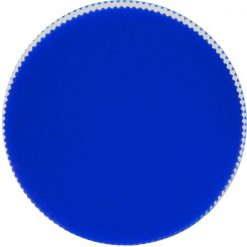 24mm 24-410 Blue Ribbed (Matte Top) Plastic Cap w/Foam Liner (3-ply)